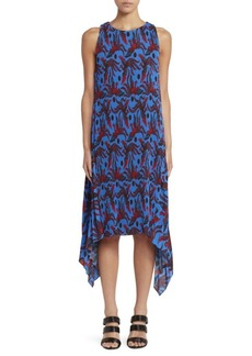 Kenzo Pleated Bird Print Dress