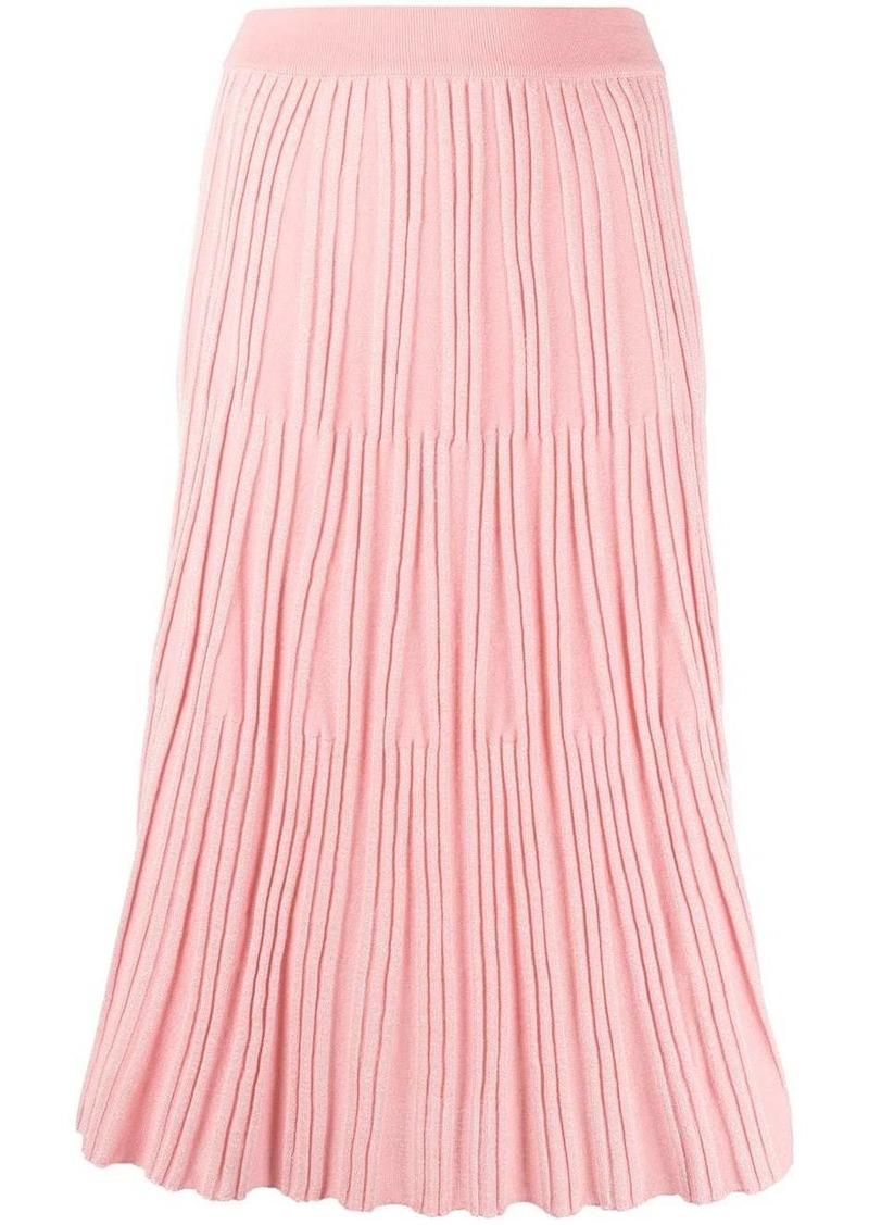 Kenzo pleated-knit midi skirt