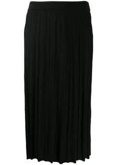 Kenzo pleated knit midi skirt