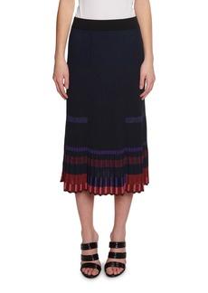Kenzo Pleated Metallic Midi Skirt