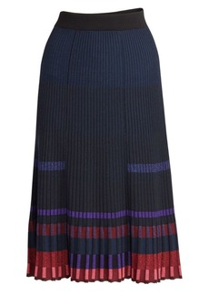 Kenzo Pleated Midi Knit Skirt