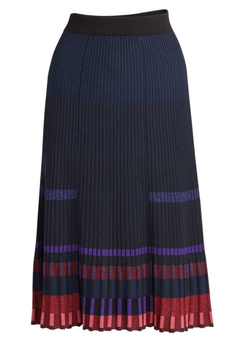 Kenzo Pleated Midi Knit Skirt