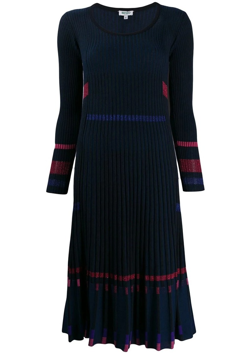 Kenzo pleated rib knit dress