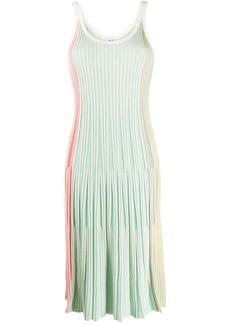 Kenzo pleated scoop-neck midi dress