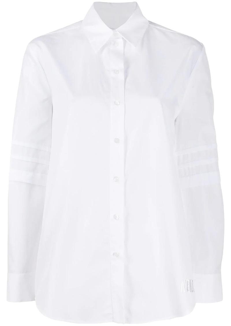 Kenzo pleated sleeve shirt