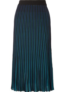 Kenzo Pleated Stretch-knit Midi Skirt