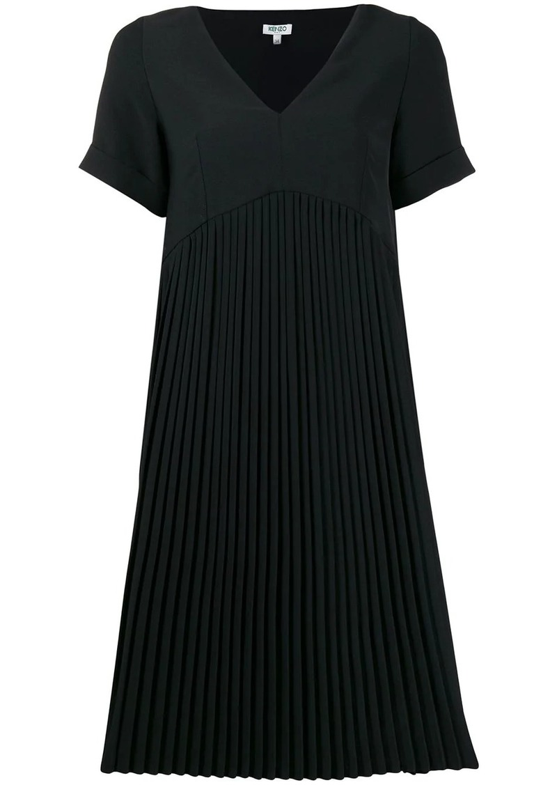 Kenzo pleated T-shirt dress