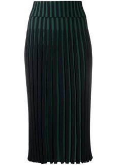 Kenzo pleated two-tone skirt
