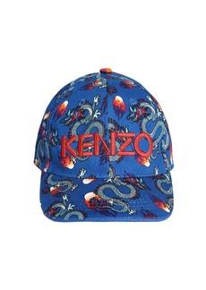 Kenzo Printed Cotton Gabardine Hat