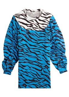 Kenzo Printed Cotton Sweater Dress