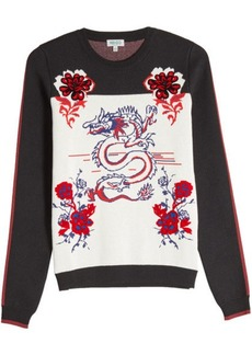 Kenzo Printed Knit Pullover with Wool and Cotton