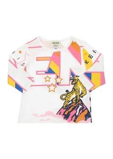 Kenzo Printed L/s Cotton Jersey T-shirt