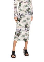Kenzo Printed Mesh Midi Skirt