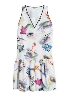 Kenzo Printed Silk Shift Dress