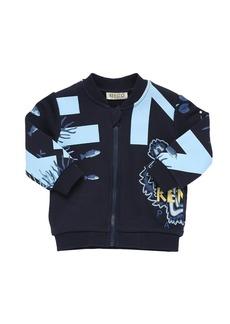 Kenzo Printed Zip-up Cotton Sweatshirt