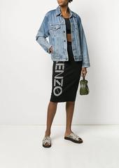 Kenzo pull-on logo skirt
