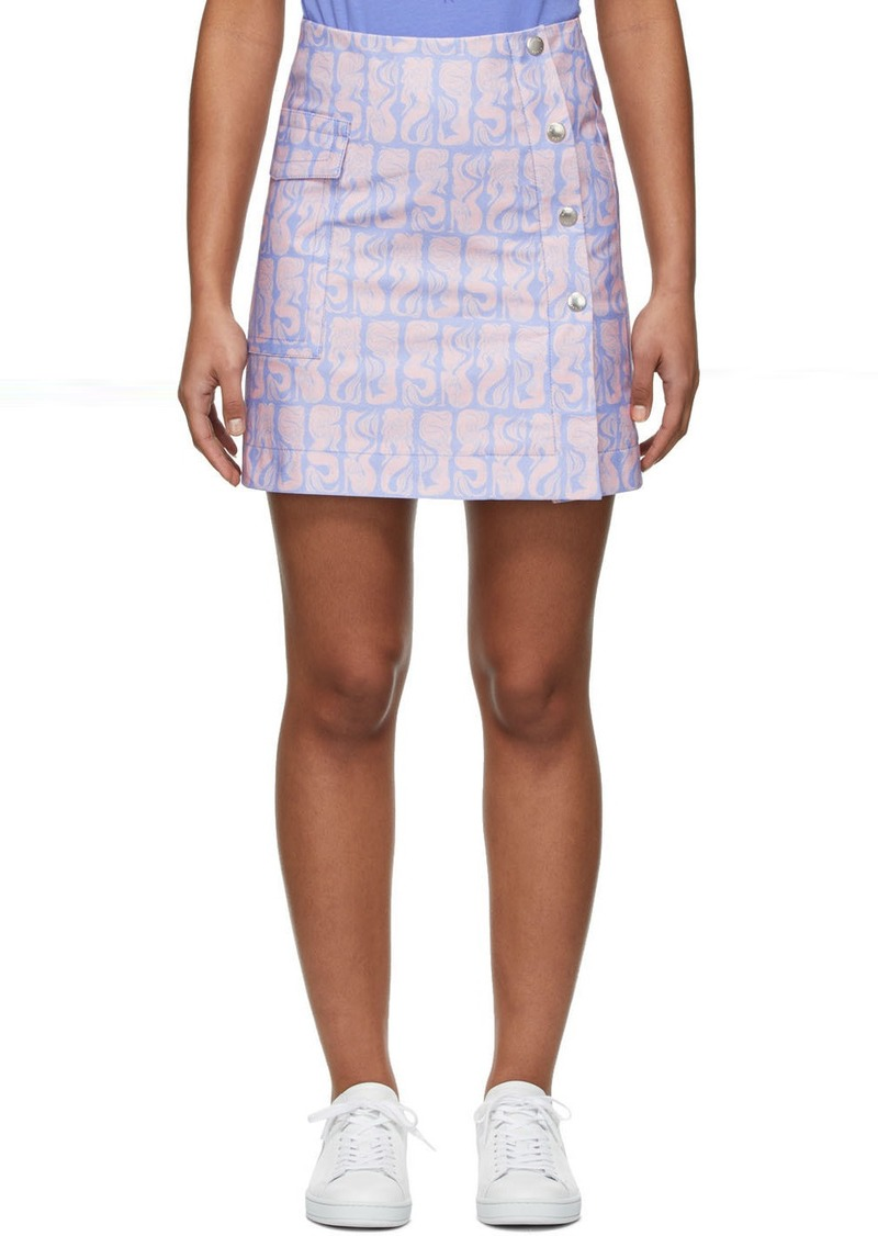 Kenzo Purple & Pink Straight Miniskirt