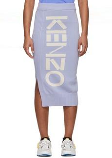 Kenzo Purple Logo Sport Tube Skirt