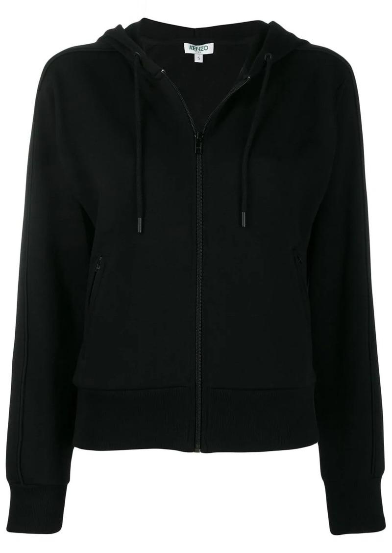 Kenzo rear logo print zipped hoodie