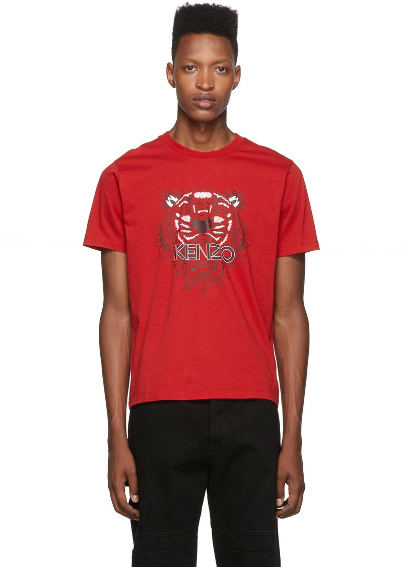 Kenzo Red Classic Tiger T-Shirt