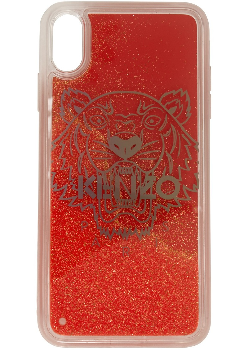 Kenzo Red Glitter Tiger Head iPhone X/XS Case