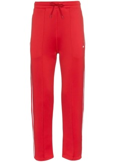 Kenzo red logo print cotton blend sweat pants