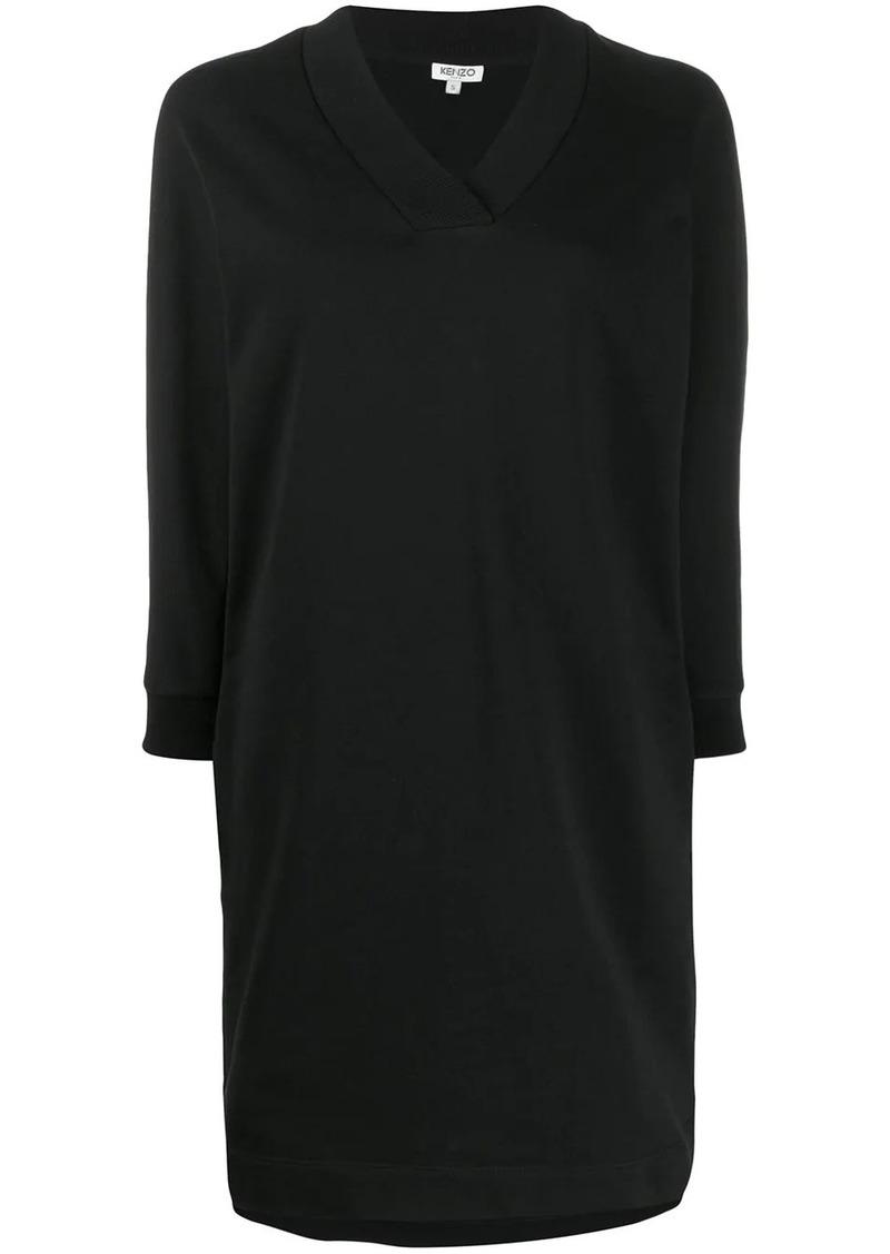 Kenzo rhinestone logo sweatshirt dress
