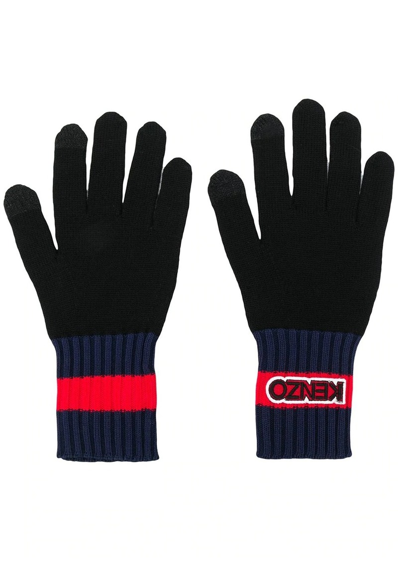 Kenzo rib-knit trim gloves