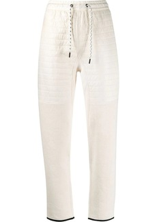 Kenzo ribbed panels track trousers