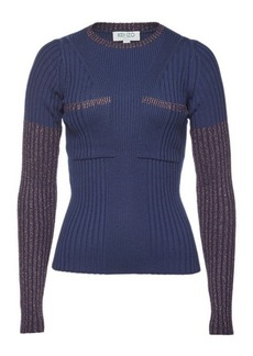 Kenzo Ribbed Pullover with Metallic Thread