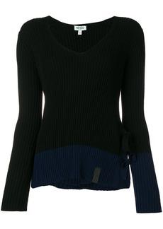Kenzo ribbed tie side slit sweater