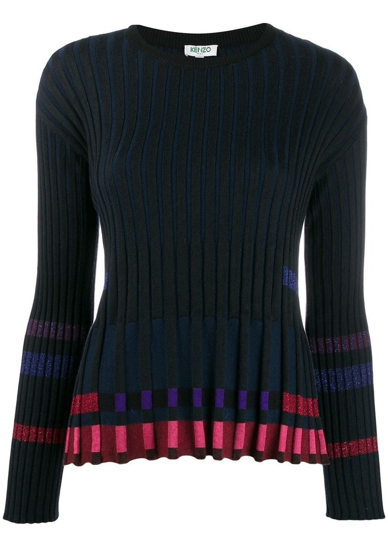 Kenzo ridged knitted top