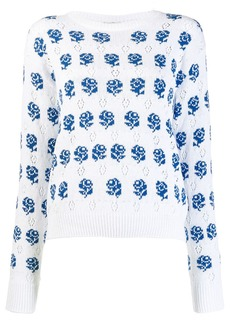 Kenzo rose knit sweater