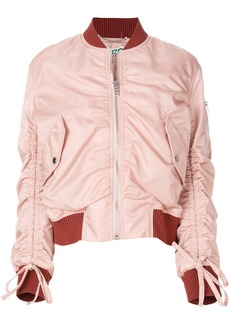 Kenzo ruched detail bomber jacket
