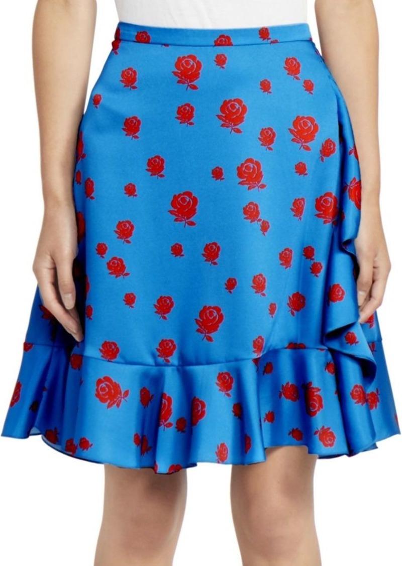 Kenzo Ruffle A-Line Skirt