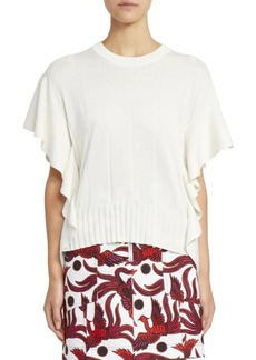 Kenzo Ruffle Sleeve Knit Top