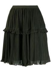 Kenzo ruffle trim pleated skirt