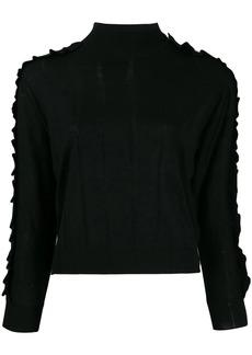 Kenzo ruffle trim roll neck sweater