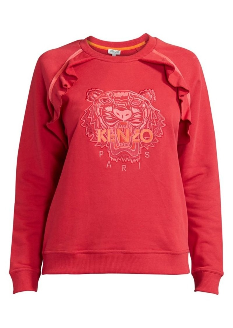 Kenzo Ruffled Tiger Cotton Sweatshirt