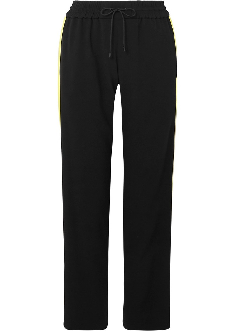 Kenzo Satin-trimmed Crepe Track Pants