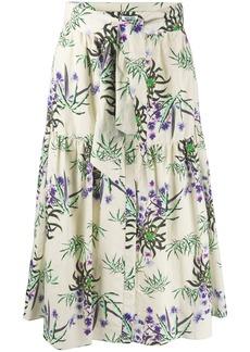 Kenzo Sea Lily print flared skirt