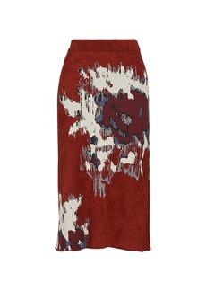 Kenzo Seasonal Jacquard Knit Pencil Skirt