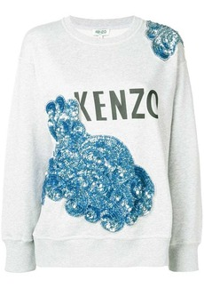 Kenzo sequin floral detail sweater