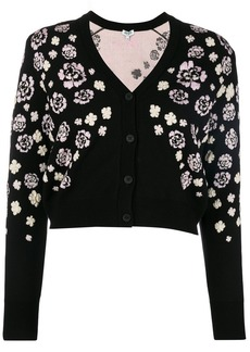 Kenzo short floral cardigan