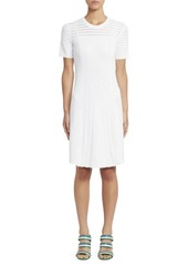Kenzo Short Sleeve Rib-Knit Dress