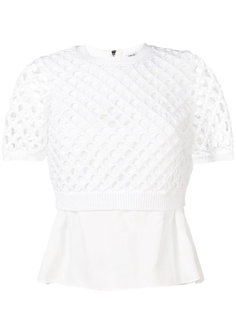 Kenzo short sleeved crochet top