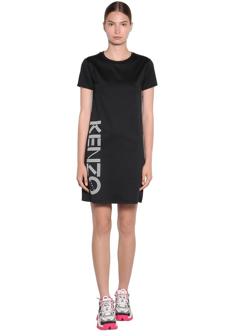 Kenzo Side Logo Cotton Jersey T-shirt Dress