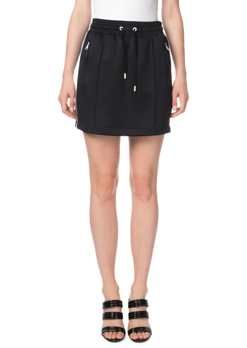 Kenzo Side-Stripe Drawstring Sporty Mini Skirt
