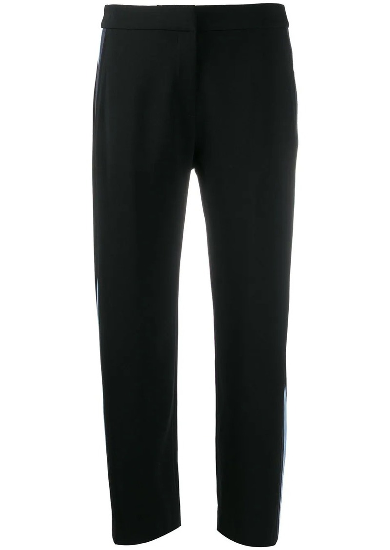 Kenzo side-striped cropped trousers