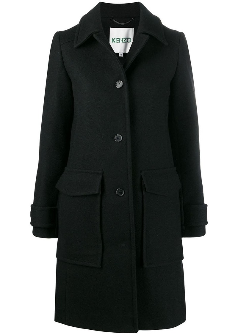 Kenzo single-breasted wool coat